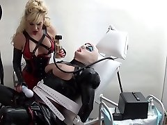 rubber bi-atch milked in the medical clinic by Madame C