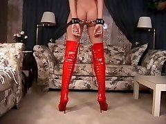 Restrain Bondage discipline lesson with a hot blond