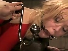 Blonde Bdsm Slave in Red Latex Suit Fucked Hard.Warning:Extraordinary Inhale!