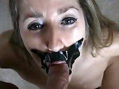 Tied up deep throat