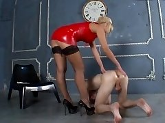 Strict blond dominant-bitch
