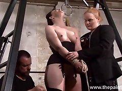 Slave Caroline Pierce whipping and stringent double dominance