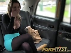 FakeTaxi Stunning towheaded with huge tits