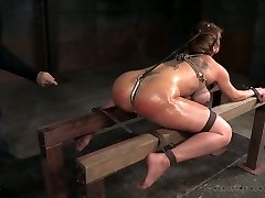 Busty bitch Dee Williams gets punished and cropped in the dungeon