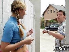 Cheeky schoolgirls get caught by killer intimate teacher