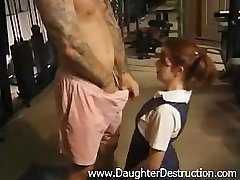 Young daughter brutally hatefucked by daddy