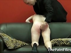 Kinky spanking and brutal blowjob of predominated slavesex sub