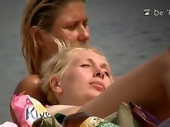 Mature hotties filmed by a bare beach weirdo