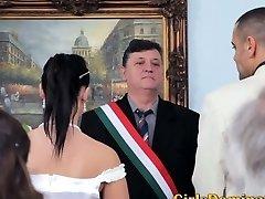 Bride gets A Nasty Rough Pummeling