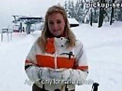 Czech girl Nathaly Teges porked with pervert stranger for cash