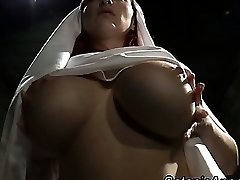Big bumpers slutty nun scolds sinner
