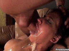 Brutal mouth fucked Sasha Grey