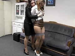 Lady boss with secretary