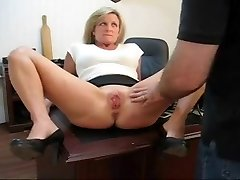 Caught playing with her labia punishment for his secretary