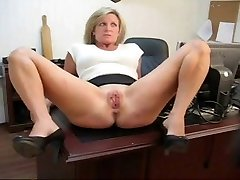 Caught playing with her slit punishment for his secretary