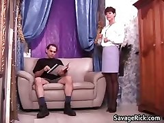 Super-sexy secretary Liz gets strapped by kinky part6