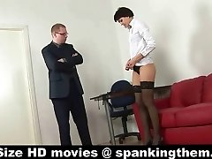 Spanked by cruel manager