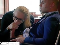 TUSHY Bodacious AJ Applegate Disciplined By Her Boss
