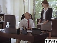 TUSHY Submissive secretary punished and sodomised