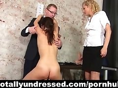 Kinky dual faux-cock test for secretary position
