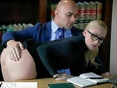TUSHY Curvaceous AJ Applegate Disciplined By Her Boss
