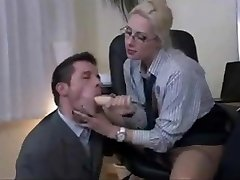 Kinky 3 Way in the Office