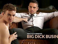 Dylan Knight & Gabriel Cross in Big Dick Biz XXX Vid - NextdoorBuddies