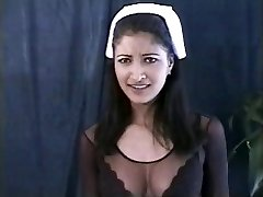 Indian nurse in action