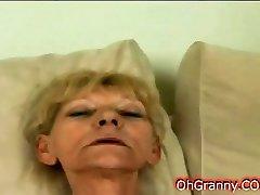 Slutty blonde grannie