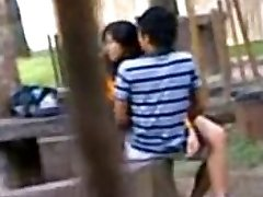 Indian College Schoolgirls Ravaging in public park Voyeur Recorded by people