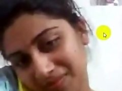 desi collage girl getting off on Skype for her beau
