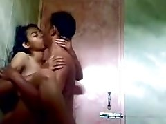 Indian Teen Penetrating in Public Shower
