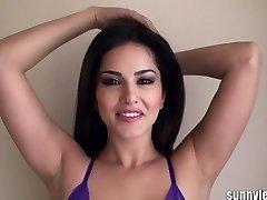SunnyLeone Sunny Leone in super-sexy purple lingeri