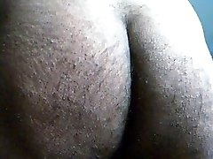 Indian hairy widely opened ass/asshole closeup