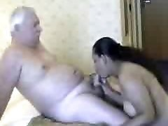 Obese Indian Babe and old Tourist