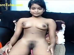 Killer Indian stunner fingering tight pussy on webcam