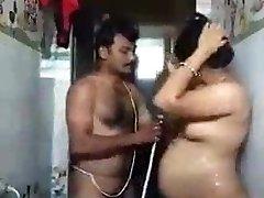 Tamil aunty bathing