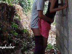 sri lankan school duo after school public outdoor leaked නැන්දගෙ දුව