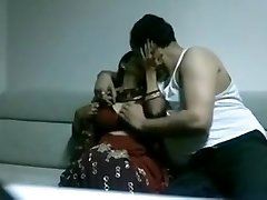 Slender Indian wifey gets poked in missionary position