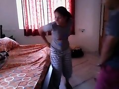 Hot Bengali chick quickie fuck with neighobour in her guest room