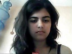 Indian woman strips on webcam