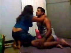 Desi Indian Wifey 3 sum with Hubby and His