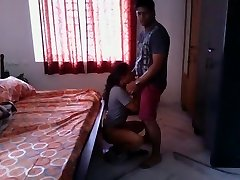 Super-hot Bengali girl quickie ravage with neighobour in her room