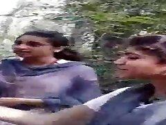 Desi Lesbo Chicks Smoking in Jungle