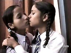 Indian School Girls Filmed By Teacher In Lesbian Hook-up