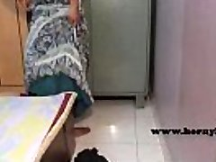 Indian maid with no undies