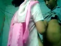 Indian Bengali School Lady First Time Sex With Bf-On Cam