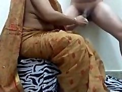 aunty pruning cock getting ready guy for fuck. ganu