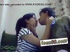 Indian school studend smooching deeply to love