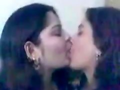 Indian College Women Kissing